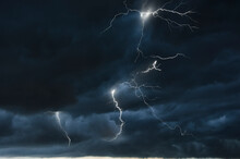 Strong Thunder Storm In Black ...