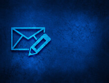 Edit Email Icon Artistic Abstract Blue Grunge Texture Background