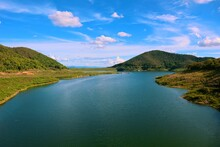 Natural Scenery Dam. Natural Landscape Around The Dam. Forests And Greenery. Big River. Chiang Mai, Thailand. Amazing Landscapes. Mae Kuang Udom Thara Dam. Beautiful Nature. Good For Meditation.