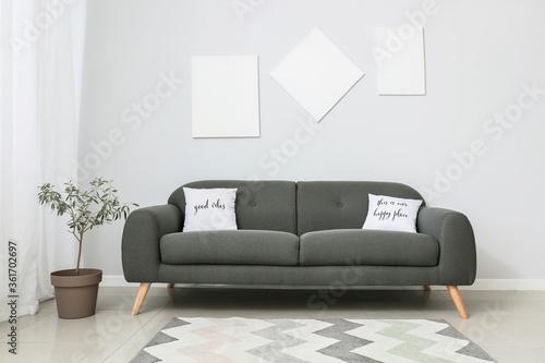 Fototapeta Interior of room with modern sofa obraz