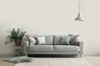 Leinwandbild Motiv Interior of modern room with comfortable sofa