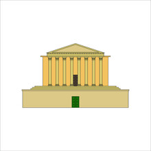St Georges Hall Liverpool Illustration For Web And Mobile Design.