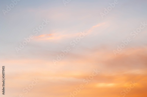 Fototapety, obrazy: Soft cloudy is gradient pastel,Abstract sky background in sweet color..