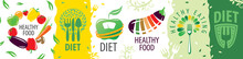 Set Of Vector Logos Of Diet An...