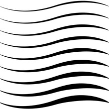 Set Of Curved Calligraphic Lines Strips, Ribbon Twisting Vector, As A Road Element Calligraphy Elegantly Curved Ribbon Line