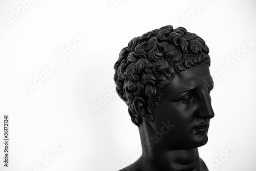 Busto del dios griego Hermes Canvas Print