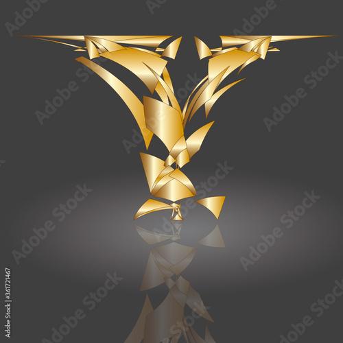Polygonbuchstabe Y5 #361721467