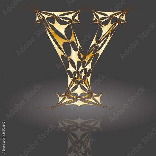 Polygonbuchstabe Y14 #361721682