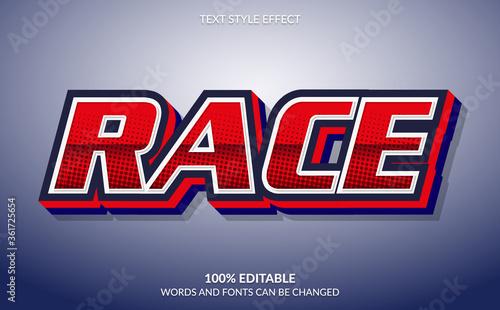 Cuadros en Lienzo Editable Text Effect, Race Text Style