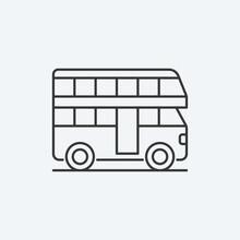Double Decker Bus Icon. Bus Symbol Modern, Simple, Vector, Icon For Website Design, Mobile App, Ui. Vector Illustration