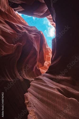 Fototapeta Interior de Antelope Canyon en Estados Unidos obraz