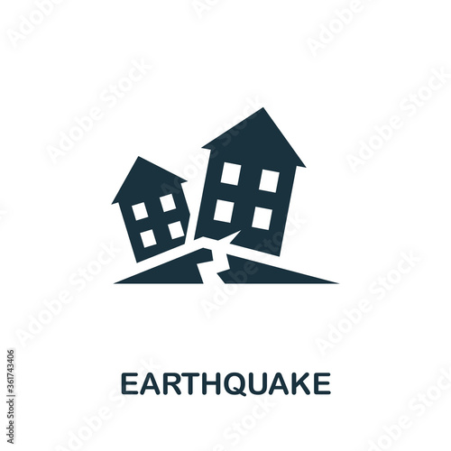 Earthquake icon Fototapet