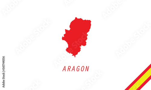 Cuadros en Lienzo Aragon map Spain region vector illustration