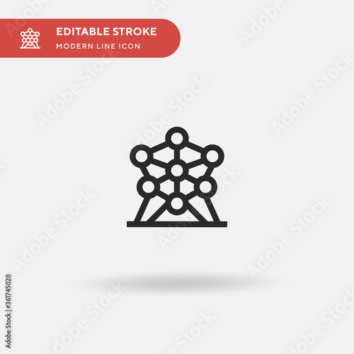 Canvas Print Atomium Simple vector icon