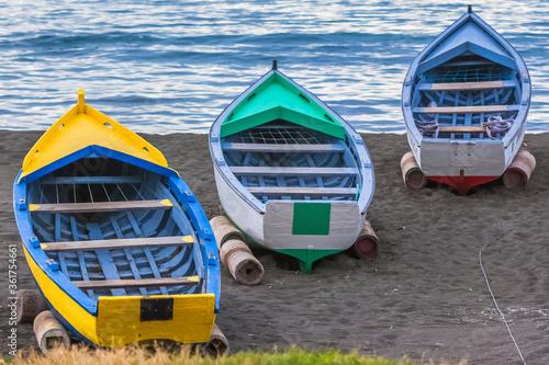 fishing boat on the shore, Saint-Paul, Reunion island