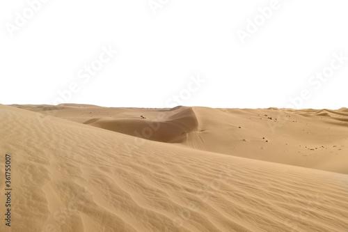 Big hot sand dune on white background Wallpaper Mural