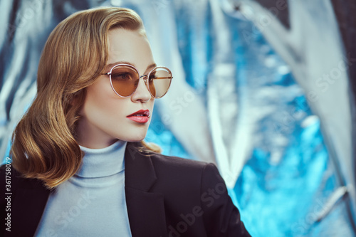 smart girl with sunglasses