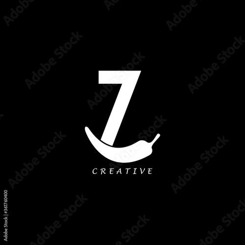 Chili concept flat Z letter multipurpose logo design Canvas-taulu