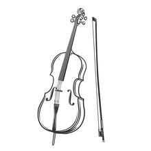Cello Outline Icon.