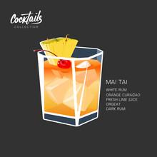 Cocktail Mai Tai Drink Pineapp...