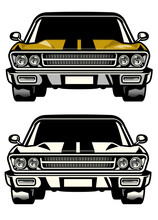 Muscle Car Classic Front Side Look