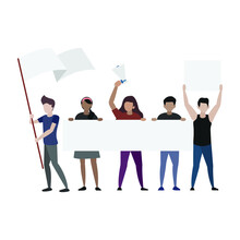 Protest Vector Illustration Co...