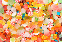 Colorful Fruit Candies And Jel...