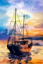 Watercolor Painting - Fishing ...