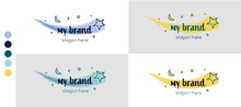 Logo Template With Colour Palette And Combinations