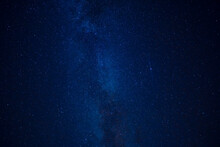 Milky Way Over Head In Night S...