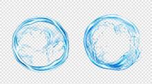 Circle Water Splash, Liquid Aq...