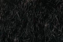 Black Beard Texture. Hair Background.
