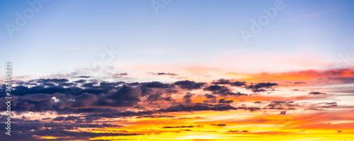 Photo Schöner Wolkenhimmel am Abend, Naturschauspiel