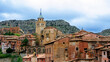 View of the old town of Albarracin Teruel Spain