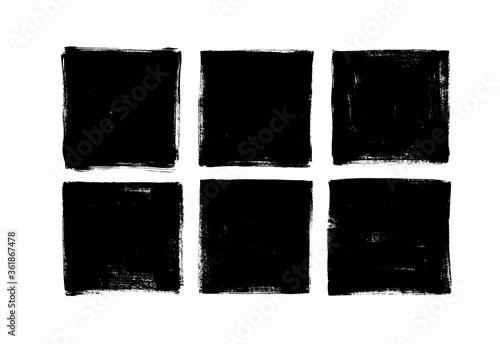 Valokuva Set of grunge square template backgrounds