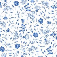 Vector Delft Blue Royal Hand D...
