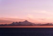 Sunset Glow In Alaska Midnight...