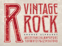 A Condensed Capitals And Numbers Alphabet In A Classic Rock 1970s Style Of Lettering; This Font Also References Type Styles From The Art Deco Design Period