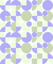 Circle Pacman Pattern Green An...