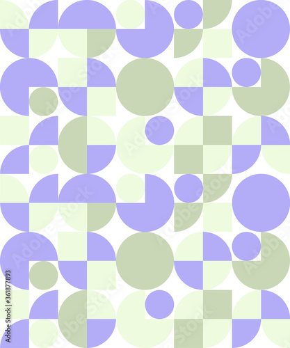 Fotografie, Obraz Circle Pacman Pattern Green and Purple