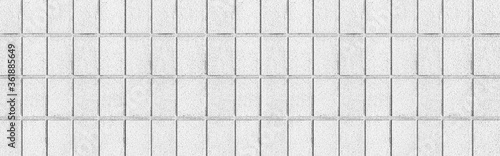 Panorama of White concrete block wall seamless background and texture Fototapet