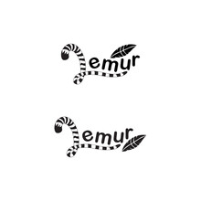 Lemur Tail With Feather Vector...