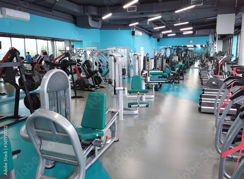 Modern gym with no people interior Fotobehang
