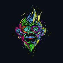 The Monkey Line Pop Art Potrai...