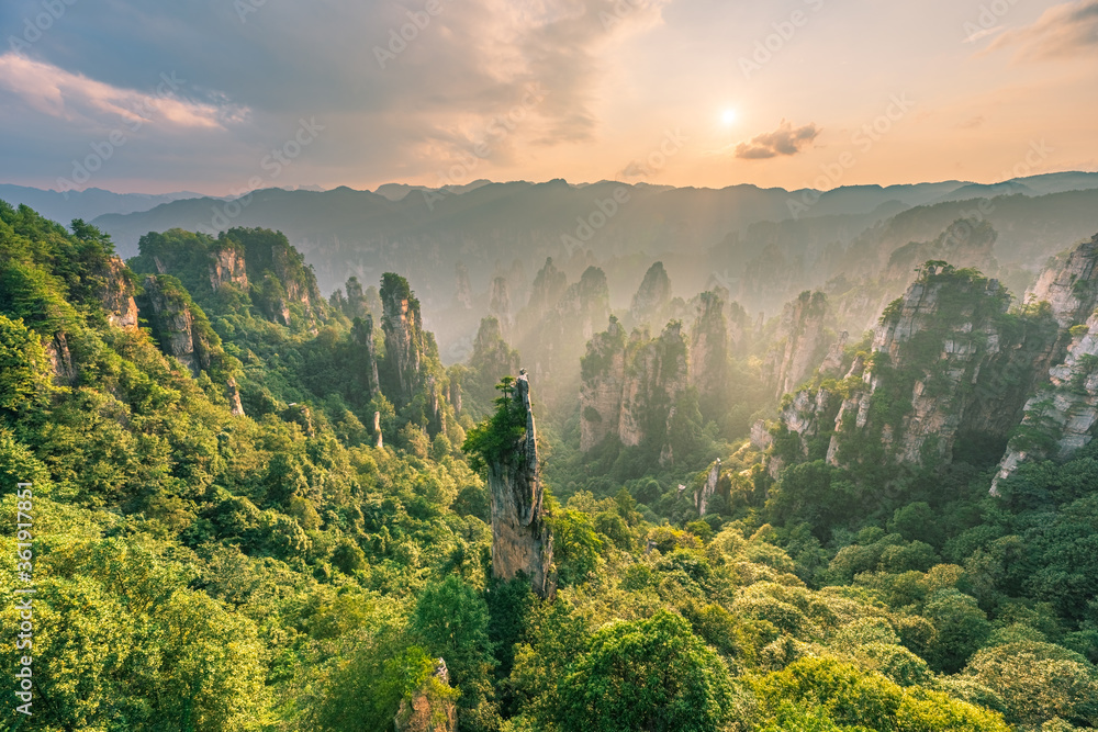 Fototapeta Beautiful natural landscape of Zhangjiajie National Forest Park, Hunan Province, China.