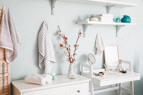 Stylish interior of modern bathroom Canvas Print