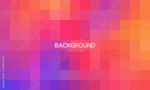 Fotomural Abstract colorful geometric background, Creative design templates