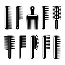 Hair Combs And Hairbrushes Ico...