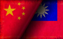 Grunge Country Flag Illustration / China Vs Taiwan (Political Or Economic Conflict)