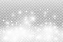 Vector Sparkles On A Transpare...